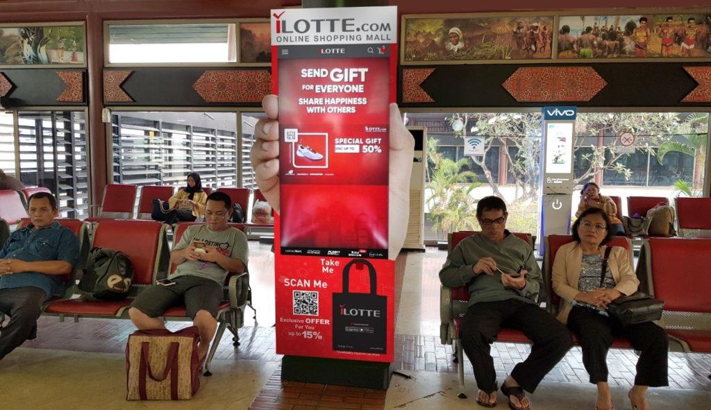 Iklan Bandara untuk Kampanye i-LOTTE di Bandara Internasional Soekarno-Hatta