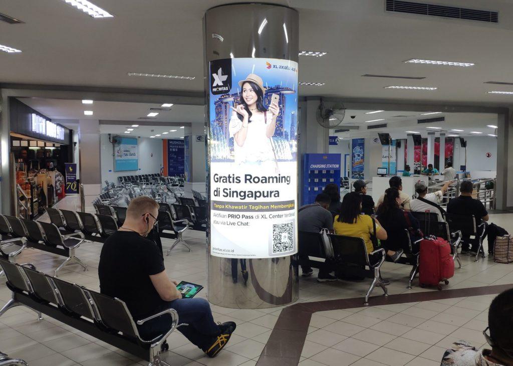 Kampanye Endorsement Selebriti Maudy Ayunda, XL Prioritas, Ruang Tunggu Keberangkatan, Batam Internasional Ferry Terminal