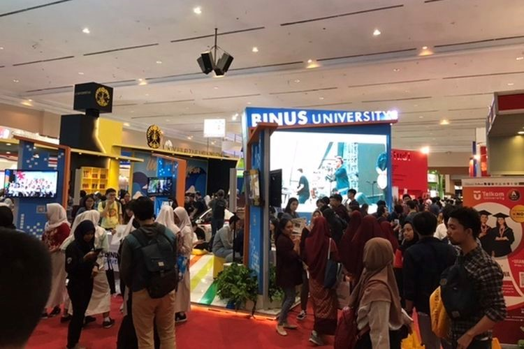 Pameran pendidikan 2nd Indonesia Edutech 2020 di Jakarta Convention Center. Sumber: Kompas