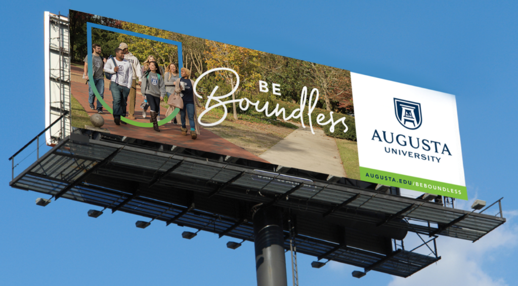Billboard Iklan Promosi Kampus 'Augusta University. Sumber: AUGUSTA