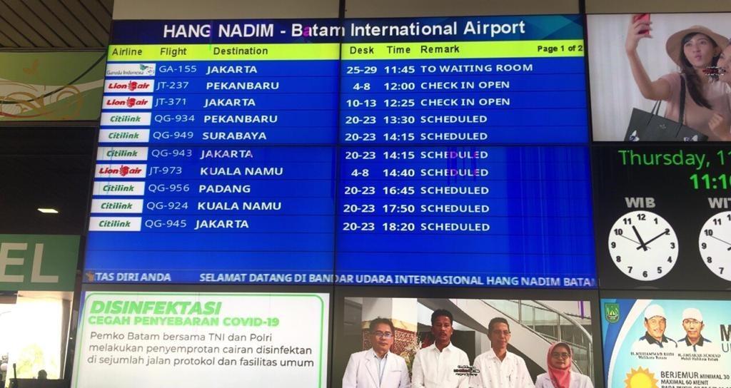 Jadwal Penerbangan di Bandara Internasional Hang Nadim Batam
