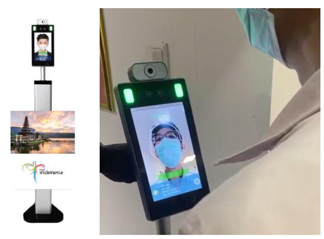 Face Sensor Thermometer + Display Iklan oleh The Perfect Media