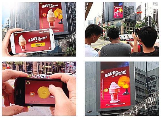 Billboard digital McDonald's di Bukit Bintang, Kuala Lumpur, Malaysia. Sumber: Pubnub (Klik untuk lihat video)