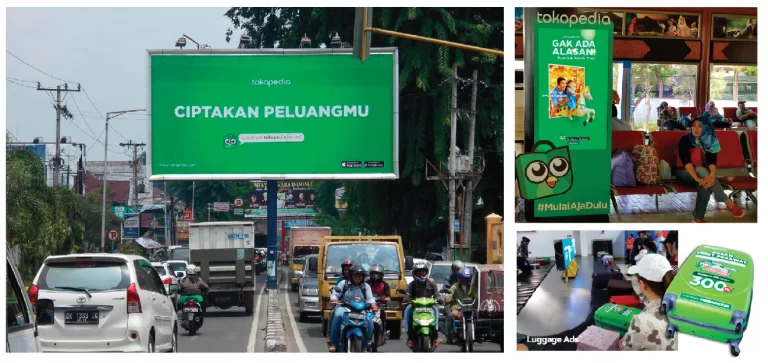 Rangkaian Iklan Tokopedia dengan Varian Display OOH