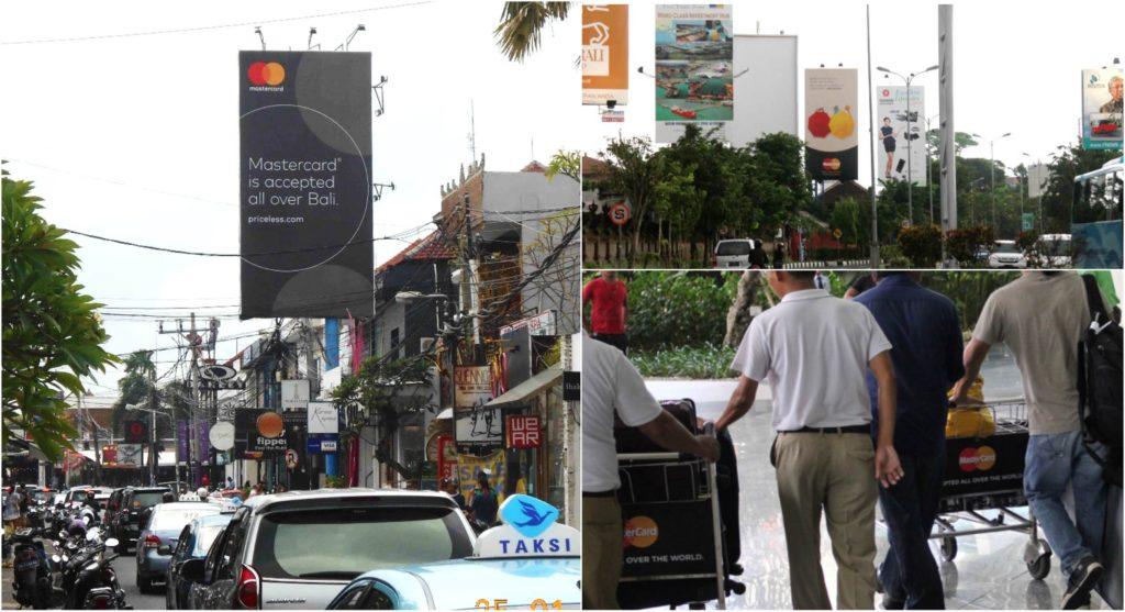 Media iklan luar ruang The Perfect Media di Bali, Indonesia