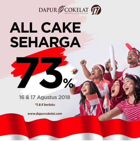 Promosi Spesial HUT RI ke-73 oleh Dapur Cokelat. Sumber: detikFood