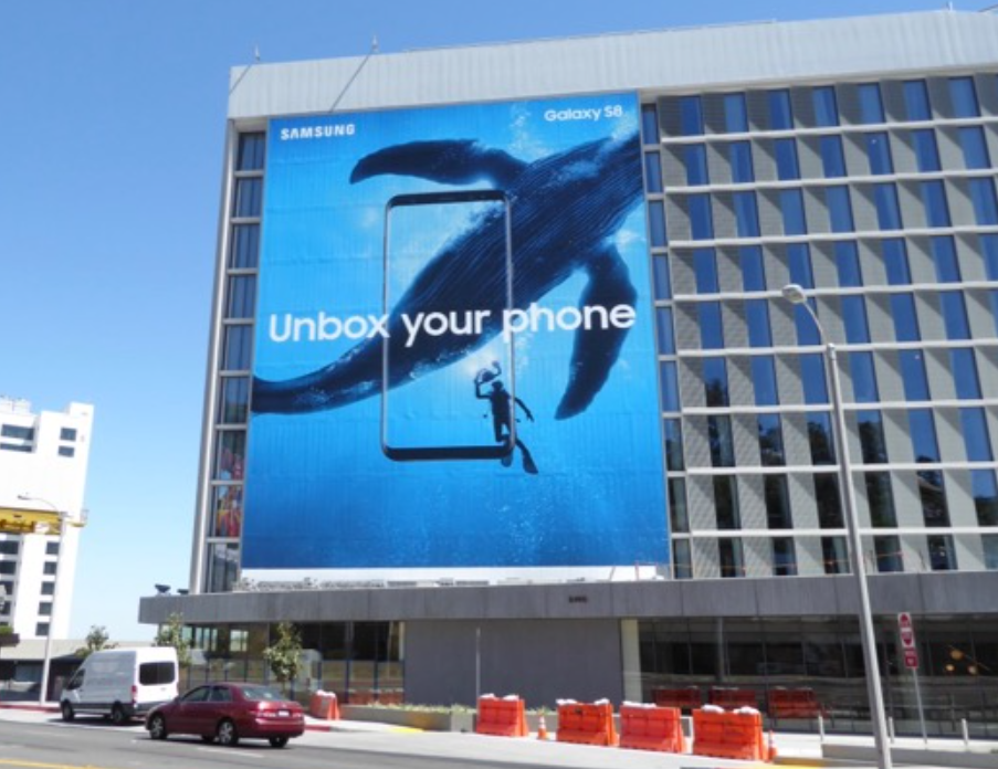 Billboard Samsung di Sunset Trip, Los Angeles