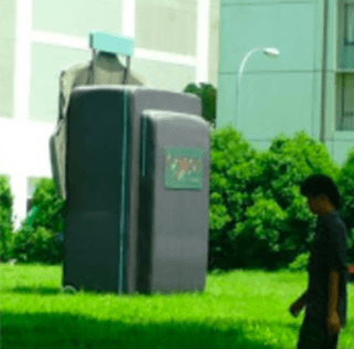 GIANT Luggage Spotted in Singapore