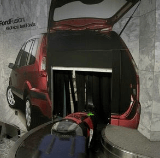 Ford Fusion Creative Spin on Airport Advertising