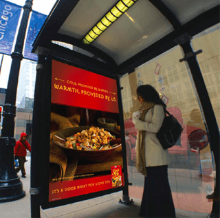 Heated Bus Stops Offer Sympertising and Tryvertising