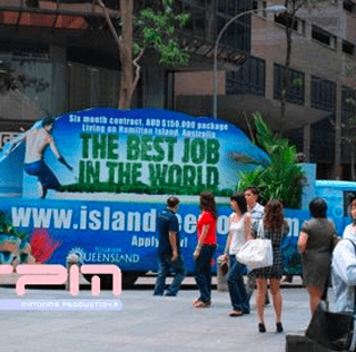 Mobile Billboard for The Best Job In The World
