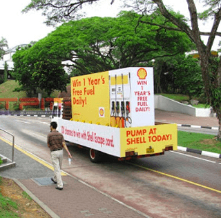 Shell Outdoor Advertising on Mobile Billboard