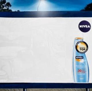 Sunscreen Ad Billboard – Making Use of the Sun