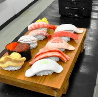 Asahi Shimbun – Airports entice with oversized fake sushi at baggage claims