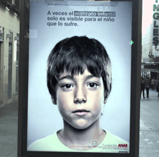 Gizmodo – This Ad Has a Secret Anti-Abuse Message That Only Kids Can See