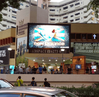 Queensway Shopping Centre Giant LED for New Balance Launching