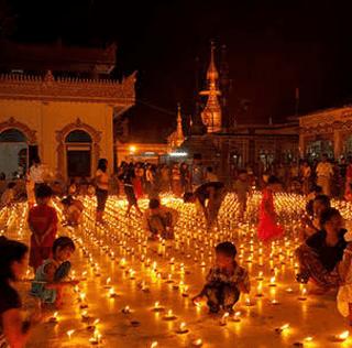 Celebrating the Thadingyut-Light Festival in Myanmar