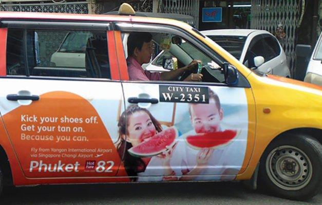TPM Jetstar Myanmar Taxi Ad