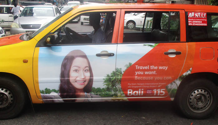 Jetstar Taxi Ad by TPM Outdoor