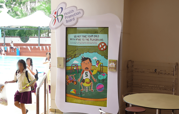 Health Promotion Board at Choa Chu Kang Stadium Swimming Complex