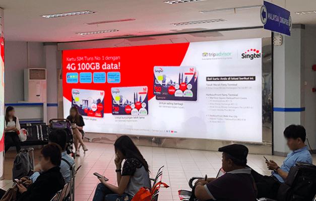 Singtel at Batam Ferry Terminal