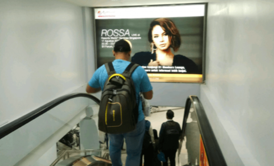 Billboard advertisement at Batam Ferry Terminal