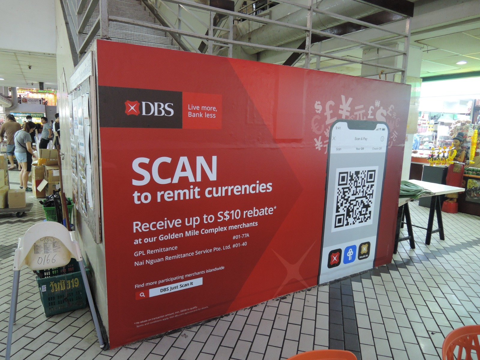 DBS Remittance at Golden Mile Complex