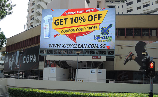 Promoting Safe Homes with X-Joyclean Disinfectant using Outdoor Advertising