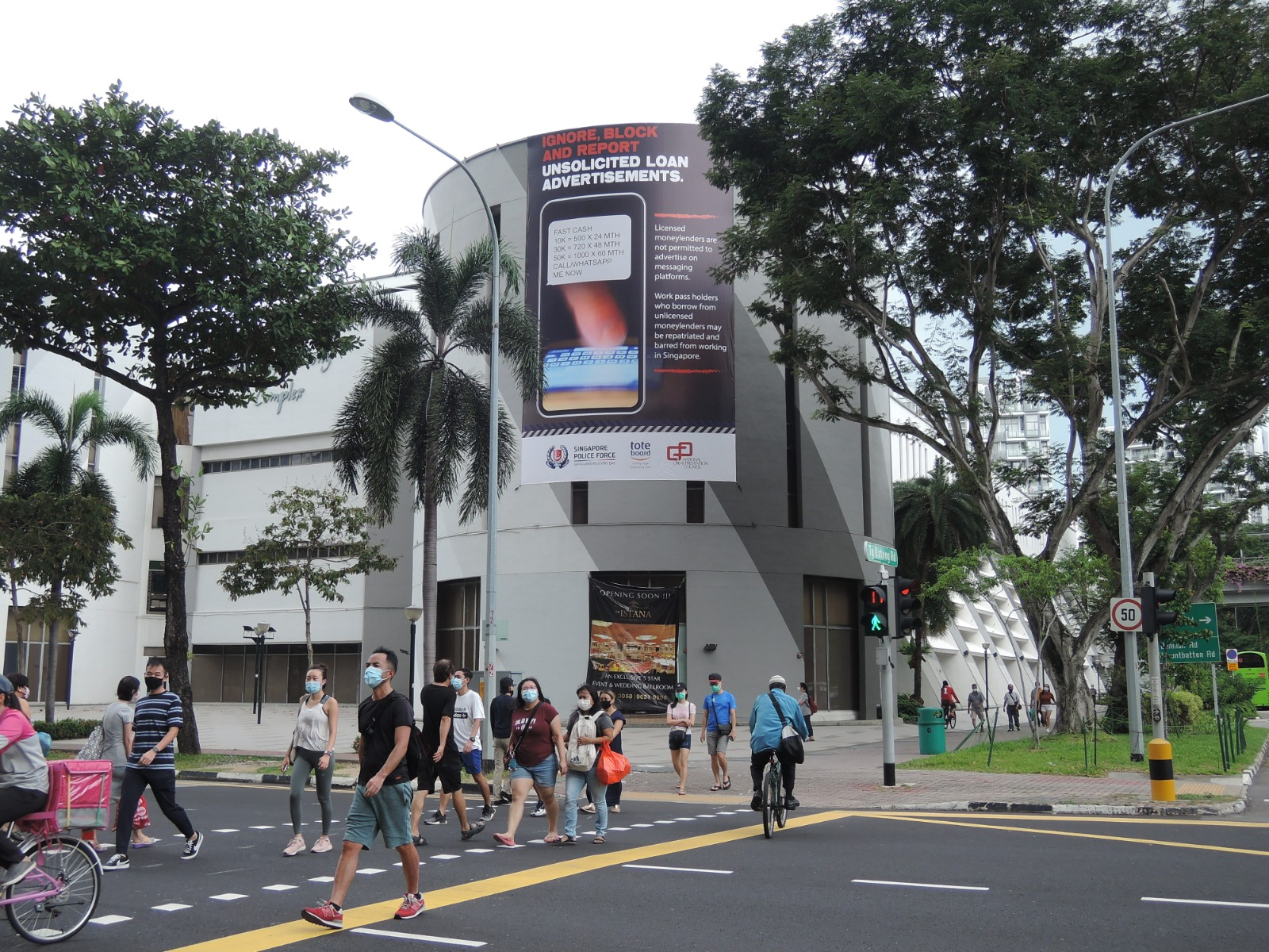 Strategic Outdoor Advertising to fight scams
